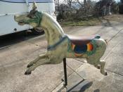 VINTAGE EUROPEAN HORSE CAROUSEL RIDE