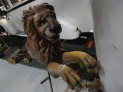 VINTAGE EUROPEAN LION CAROUSEL RIDE