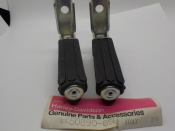 "AERMACCHI M65 ""NEW OLD STOCK"" R1969-72 REAR FOOT RESTS #50890-69P"