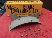 "PANHEAD KNUCKLEHEAD UL ""NEW"" REAR BRAKE LINING w/rivets #41848-38"