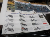 "SHOVELHEAD SPORTSTER ALL 73 MODELS ""NOS"" MODEL INTRODUCTION ADVERTISMENT"