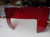 "PANHEAD SHOVELHEAD ""NEW REMAKE"" 7-HOLE RED WINDSHIELD LOWER PLASTIC #58022-56"