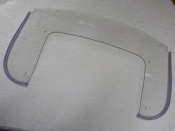 "PANHEAD SHOVELHEAD ""NEW REPO"" 7-HOLE CLEAR WINDSHIELD LOWER PLASTIC #58022-49"