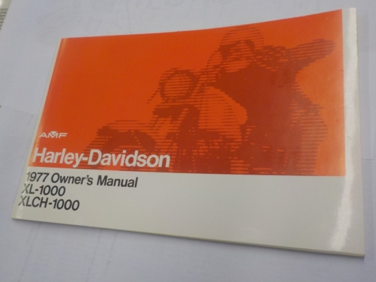 "SPORTSTER ""NEW OLD STOCK"" RIDER HAND MANUAL XL1000 XLCH1000 #99466-77"