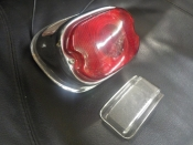 "PANHEAD ""NEW REPO"" 1955 TO 72 TAIL LIGHT CLEAR LENS #68093-55A"