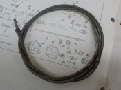 "AERMACCHI SPRINT ""NEW OLD STOCK IN PKG"" 1962-68 TACHOMETER INNER CABLE #92091-61"