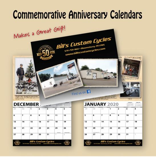 50TH ANNIVERSARY COMMEMORATIVE CALENDAR 2020